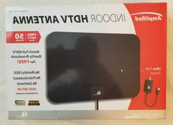 1byone TV Antenna, 50 Mile Range Amplified HDTV Antenna with