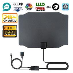 TV Antenna, Indoor Digital HDTV Antenna 4K 1080P 60-80 Miles