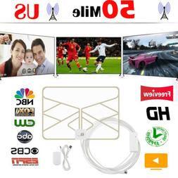 TV Antenna Digital HD Skywire 4K 50 Miles Range Antena Digit