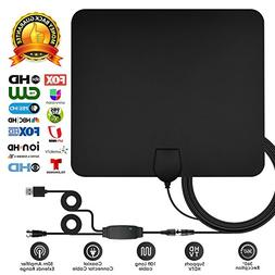 TV Antenna, 2018 Upgrade Digital HD Indoor TV Antenna 50-80