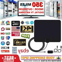 TV Antenna HD Digital Indoor Television HDTV Electronic 350