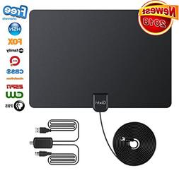 2018 Newest TV Antenna, 80 Mile Long Range Freeview Indoor H