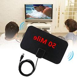 Alician 1080P HD TV Antenna 13ft Long Cable Indoor Amplified