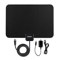 TV Antenna-50 Mile Range with Detachable Amplifier, HDTV Ind