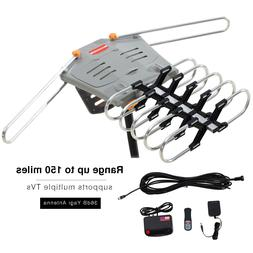 150 Miles TV HDTV 1080P Outdoor Antenna Amplified Motorized