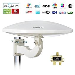 ANTOP Outdoor TV Antenna,Amplified HD TV Antenna 65 Miles Lo