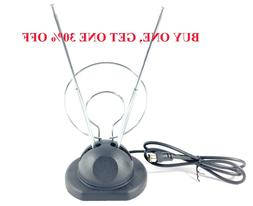 Universal Rabbit Ear Antenna Indoor  For Color TV UHF VHF HD