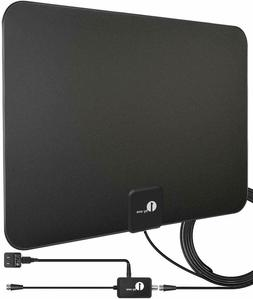 1byone Digital Amplified Indoor HD TV Antenna Up to 80 Mile