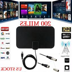 US 200 Miles HD TV Antenna EZ Digital HDTV Satellite  Signal