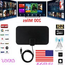 US STOCK Indoor TV Antenna EZ Digital HDTV  200 Miles Range