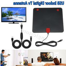 USB Indoor Digital Tv Antenna 50-100 Miles Range Signal HD 1