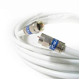 white rg6 coaxial cable shielded